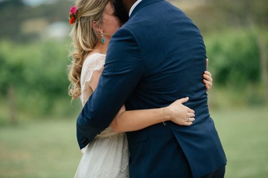bride and groom at Main Ridge ceremony