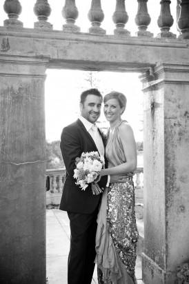 Alana Blowfield Black and white wedding photo