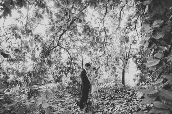 Amazing black and white wedding photo