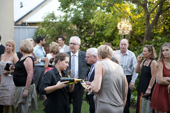 Backyard cocktail wedding
