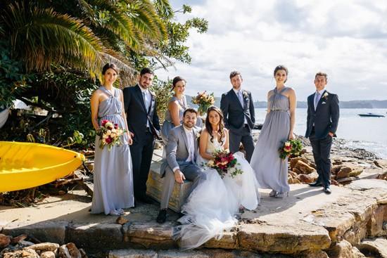 Beachside wedding photo