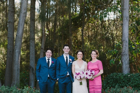 Bridal aprty in navy and pink