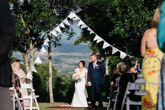 Bride and groom at Maleny wedding