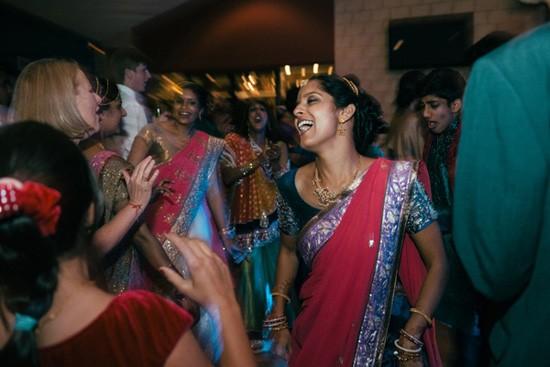 Bride dancing at Indian Wedding