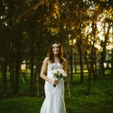 Bride in Helen English Dress