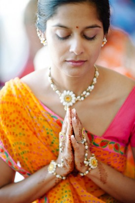 Bride in Indian dress