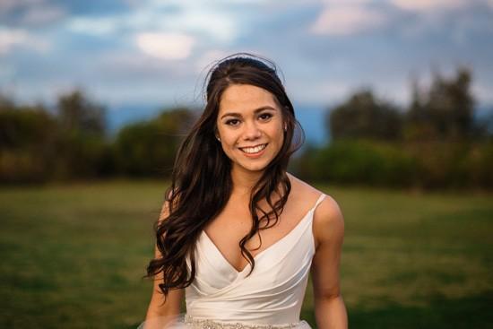 Bride in Lisa Gowing
