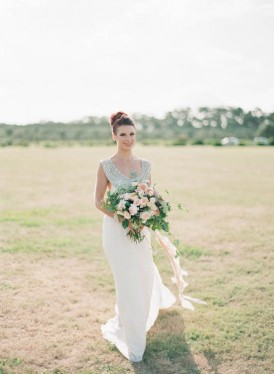 Bride in australian country
