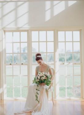 Bride in glasshouse