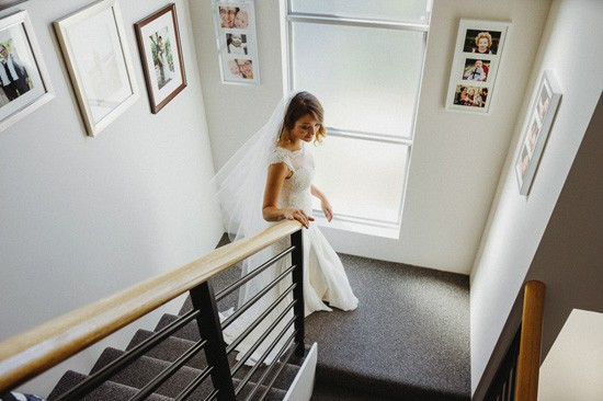 Bride leaving for ceremony