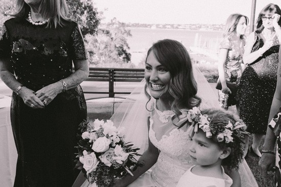 Bride seeing groom for the first time