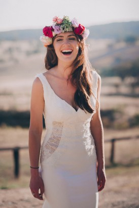 Bride wearing Corston Couture