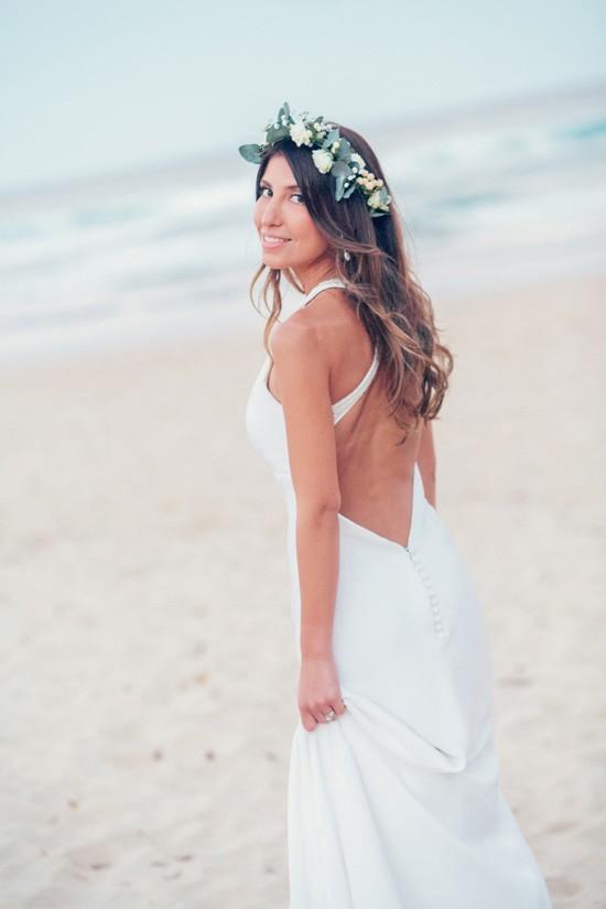Bride wearing Jennifer Regan