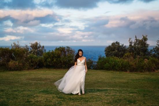 Bride wearing Lisa Gowing