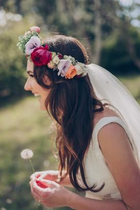 Bride with dandelion