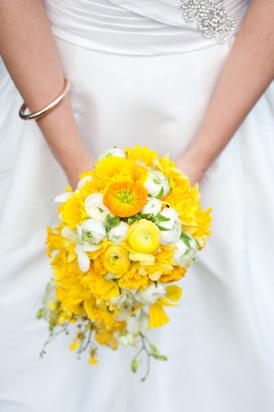Buttercup wedding bouquet