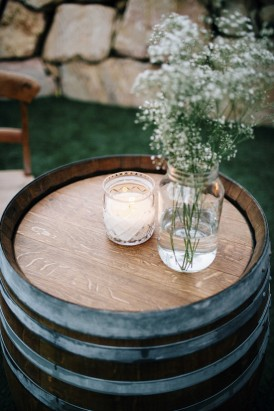 Candle on winde barrel