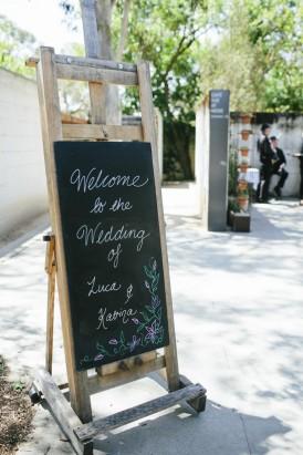 Chalkbaord wedding welcome sign
