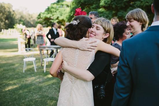 Congratulating new bride