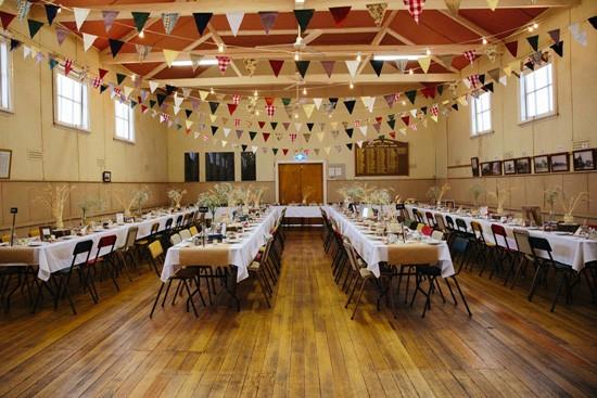 Country hall wedding