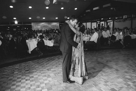 Dance between newlyweds at Australian Indian Wedding
