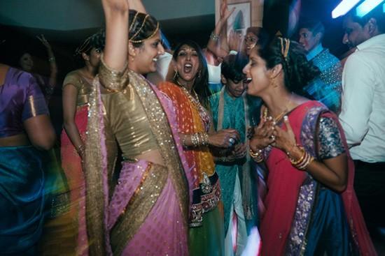 Dancing at Australian Indian wedding