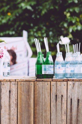 Drinks at garden party