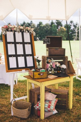 Ecelctic wedding decor