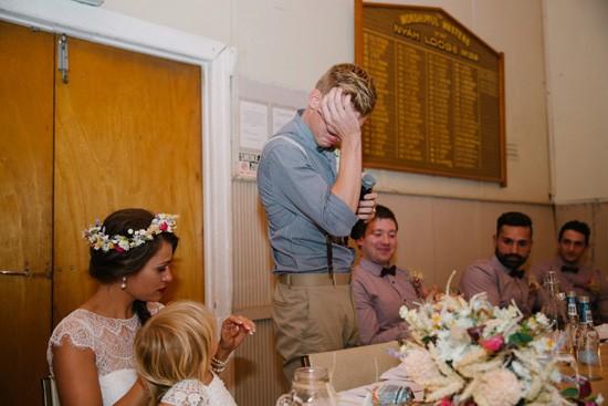 Emotional during wedding speeches