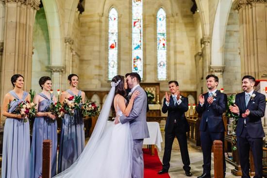 First kiss at Sydney wedding