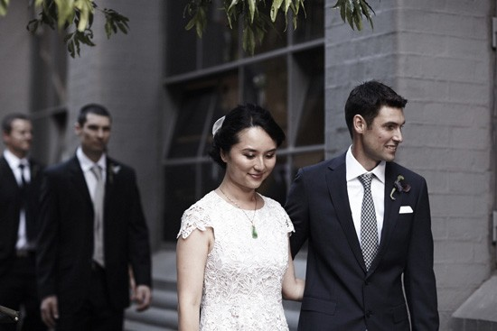 Flinders lane wedding photo