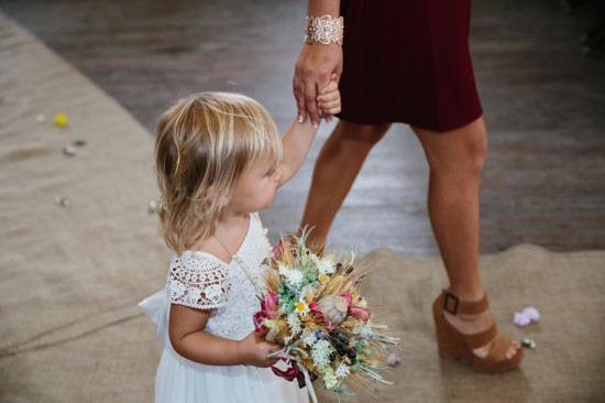 Flowergirl walking down the aisle