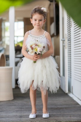 Flowergirl wearing Tutu Du Monde