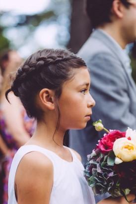 Flowergirl with braid