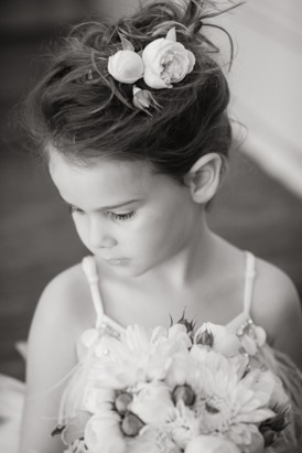 Flowergirl with roses in her hair
