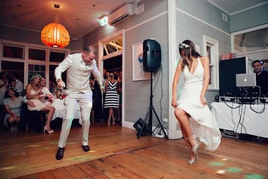 Fun first dance at wedding