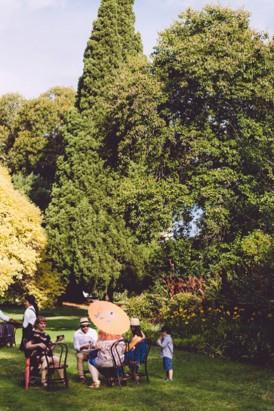 Garden party wedding in fotzroy gardens