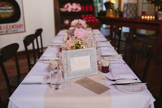 Garden pink peony wedding reception