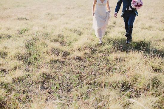 Golden field in Hunter Valley Wedding Photo