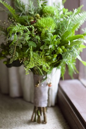 Green Flash Bouquet-with-leaves