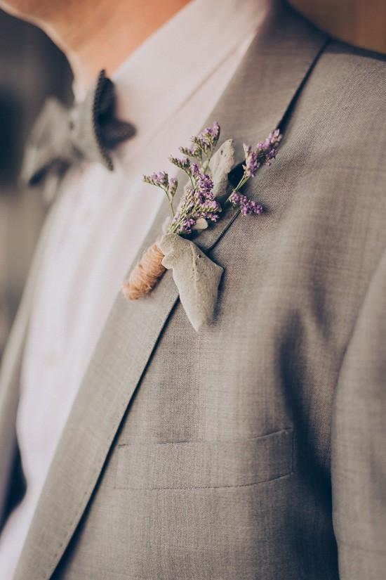 Grey suit boutonnerie