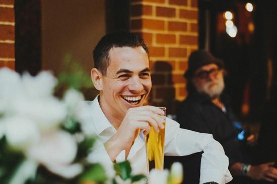 Groom laughing at perth wedding