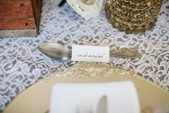 Handwritten placecard