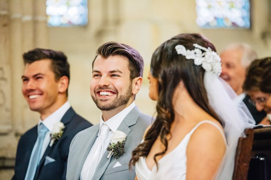 Happy groom at Sydney wedding