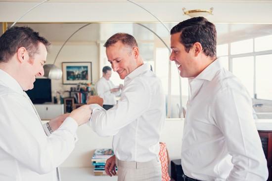 Helping groom get ready