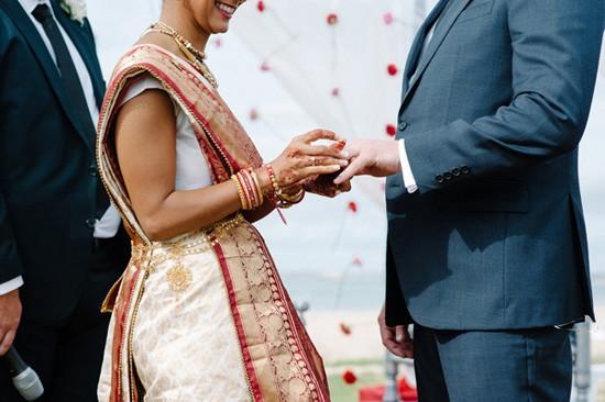 Indian Wedding ring exchange