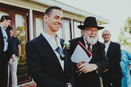 Jewish wedding ceremony proceedings