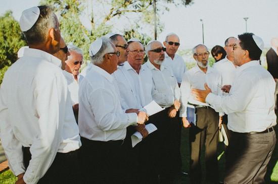 Jewish wedding ceremony singing