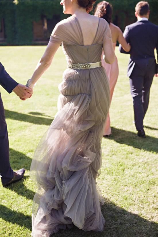 Lilac Gray wedding dress