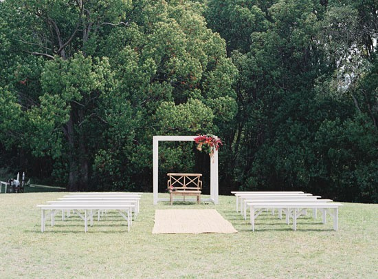 Modern Summer wedding ceremony